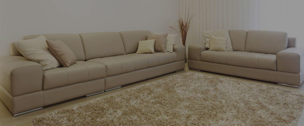 A living room that just completed a carpet cleaning job